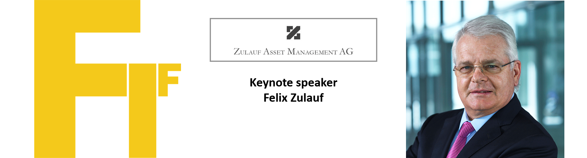 This year's keynote will be presented by Felix Zulauf (CEO Zulauf Asset Management)