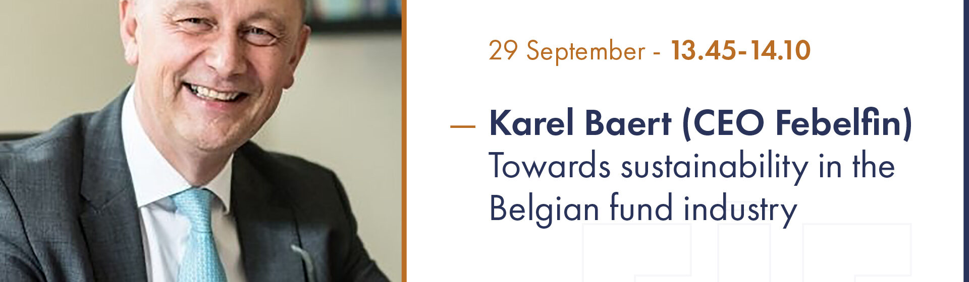 Towards sustainability in the Belgian Fund Industry – Karel Baert